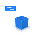 Blue Box isolated on white background vector image