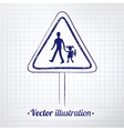 School warning sign vector image