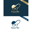 Face with glasses and cap logo icon template vector image