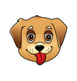 cute cartoon dog face vector image