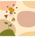 Cute greeting card vector image