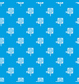 darts pattern seamless blue vector image