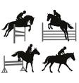 Equestrian sports set vector image