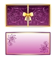 Exquisite template for greeting card invitation vector image