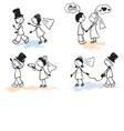 Funny Men - wedding vector image