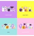 Trendy Halloween Concepts Set vector image