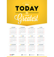 Wall Calendar Poster for 2016 Year Design Print vector image
