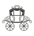 wedding carriage isolated icon design vector image