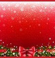 xmas poster with border vector image