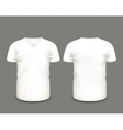 White V-neck shirts template vector image
