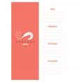 Seafood menu template Shrimp logo vector image