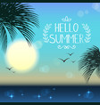 tropical landscape day vector image