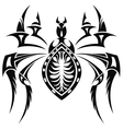 The stylized spider vector image vector image