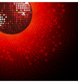 Red disco ball and haltone vector image