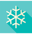 Flat Design Christmas Winter Snowflake Icon vector image