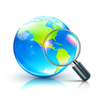 global search concept vector image vector image