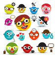 Funky People Icons Set vector image vector image