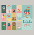 calendar 2018 cute monthly calendar vector image