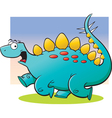 Cartoon Stegosaurus Running vector image