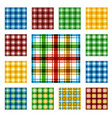 collection of square seamless patterns vector image