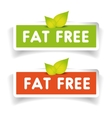 Fat free label set vector image