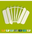 Flat design accordion vector image