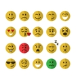Flat emoticons set vector image