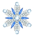 Jewelry in form of snowflake vector image