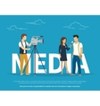 Mass media concept vector image