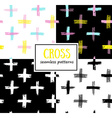 Set of seamless Cross Patterns vector image
