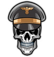 skull soldier wearing hat vector image