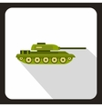 Tank icon flat style vector image