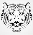 Tiger Face Tattoo Design vector image