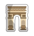 triumph arch isolated icon vector image