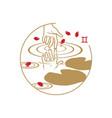 zodiac circle symbol gemini vector image