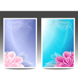 Two flowers banners or background with pink magen vector image vector image