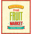 Fruit market design vector image vector image