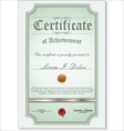 green detailed certificate vector image vector image