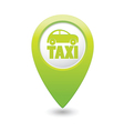 taxi icon green map pointer4 vector image vector image