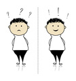 Funny sketch of boy for your design vector image vector image