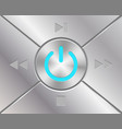 audio buttons with power simbol vector image
