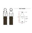 belt hanger drawing vector image