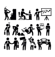 business and worker vector image