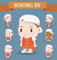 Cute Character of a Basketball Boy vector image