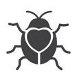 cute flying ladybug heart shape with bug vector image