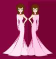 girls in luxury night out vs zodiac gemini vector image