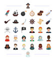 pirate profession service and other web icon in vector image