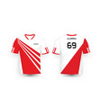 red and white stripe pattern sport football kits vector image