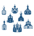 Religious churches and temples vector image