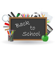 set icons school supplies 02 vector image